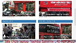 Chuyên sửa chữa laptop Toshiba Satellite L40-ABT2N22, L40-AS100B, L40-AS100G, L40-AS100W lỗi chạy treo